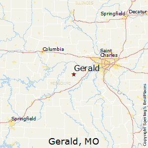 Gerald,Missouri Map