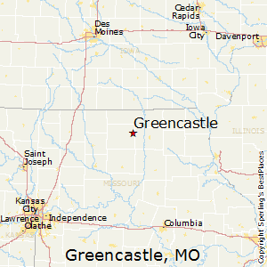 Greencastle,Missouri Map