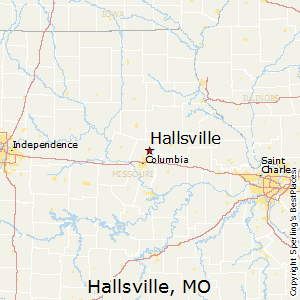 Hallsville,Missouri Map