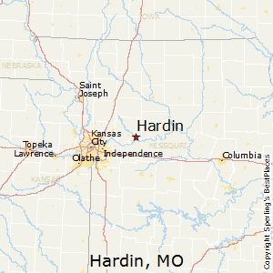Hardin,Missouri Map