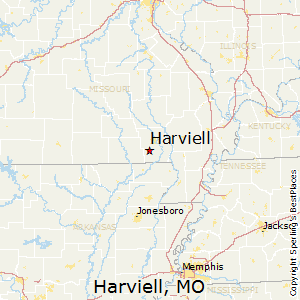 Harviell,Missouri Map