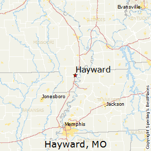 Hayward,Missouri Map