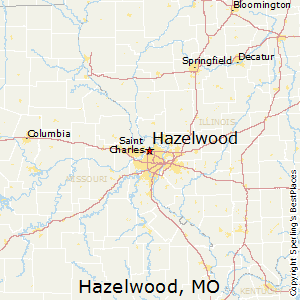 Hazelwood,Missouri Map