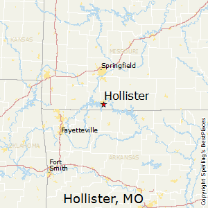Hollister,Missouri Map