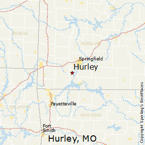 Hurley,Missouri Map