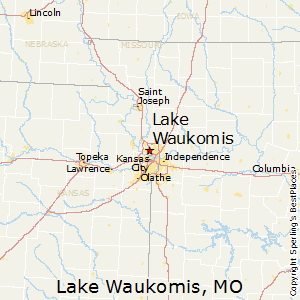 Lake_Waukomis,Missouri Map