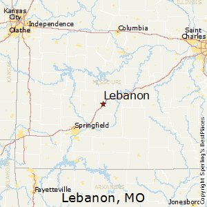 Lebanon,Missouri Map