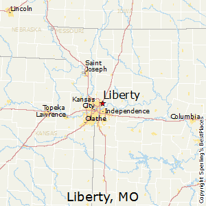 Liberty,Missouri Map