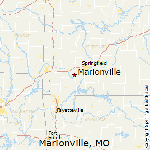 Marionville,Missouri Map