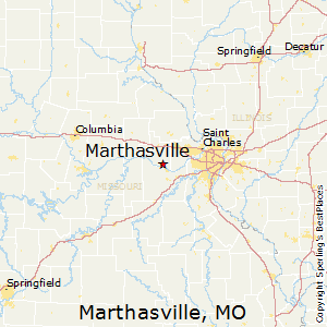 Marthasville,Missouri Map