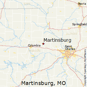 Martinsburg,Missouri Map
