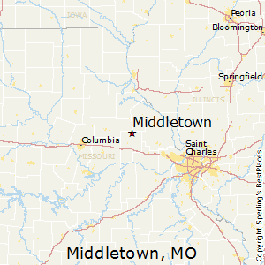 Middletown,Missouri Map