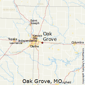 Oak_Grove,Missouri Map