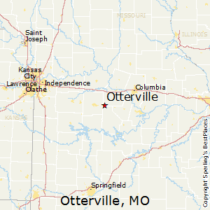 Otterville,Missouri Map