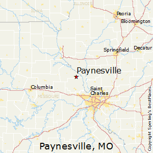 Paynesville,Missouri Map