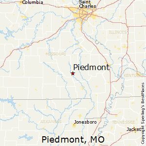 Piedmont,Missouri Map