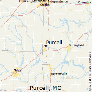 Purcell,Missouri Map