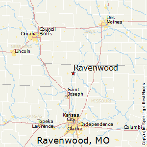 Ravenwood,Missouri Map