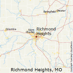 Richmond_Heights,Missouri Map