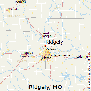 Ridgely,Missouri Map