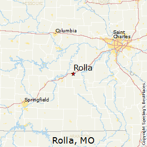 Rolla,Missouri Map