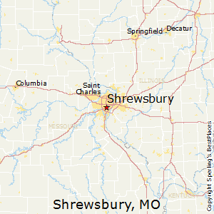 Shrewsbury,Missouri Map