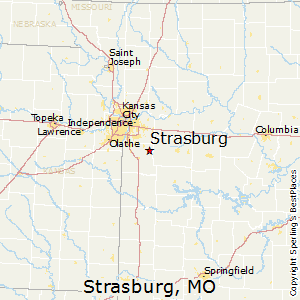 Strasburg,Missouri Map