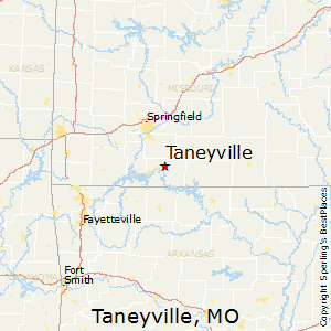 Taneyville,Missouri Map