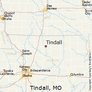 Tindall,Missouri Map
