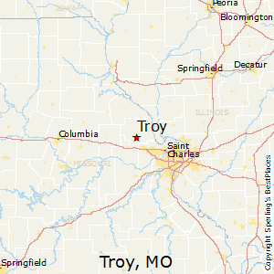 Troy,Missouri Map
