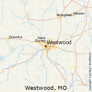 Westwood,Missouri Map