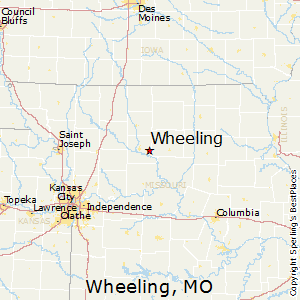 Wheeling,Missouri Map