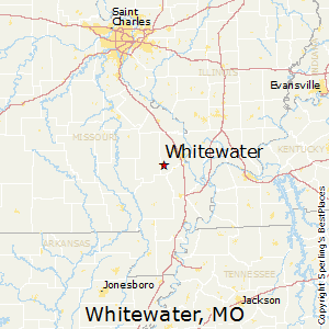Whitewater,Missouri Map