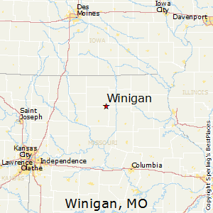 Winigan,Missouri Map