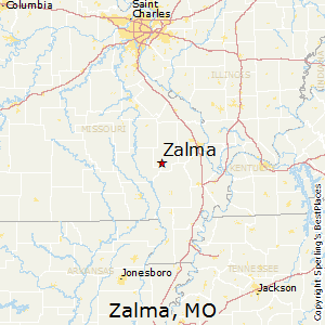 Zalma,Missouri Map