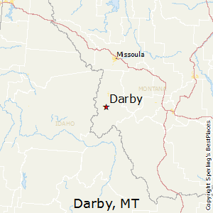 Darby,Montana Map