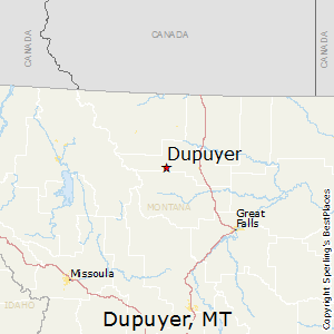 Dupuyer,Montana Map