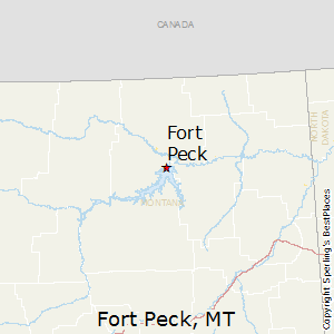 Fort_Peck,Montana Map