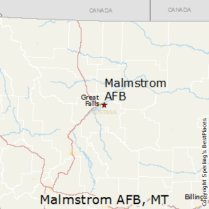 Malmstrom_AFB,Montana Map