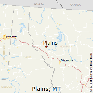 Plains,Montana Map