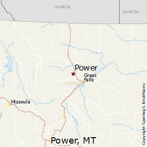 Power,Montana Map