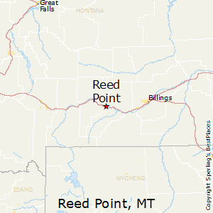 Reed_Point,Montana Map