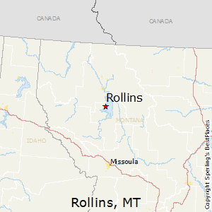 Rollins,Montana Map