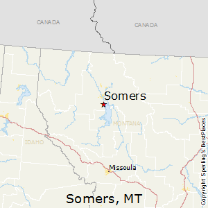 Somers,Montana Map