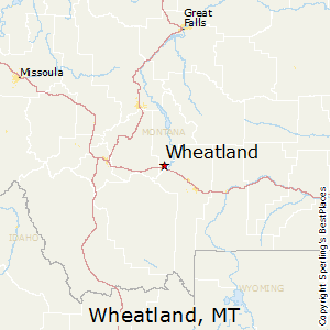 Wheatland,Montana Map
