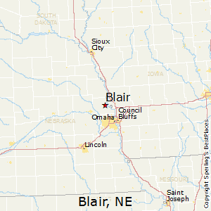 Blair,Nebraska Map