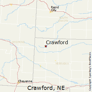 Crawford,Nebraska Map