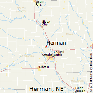 Herman,Nebraska Map
