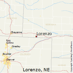 Lorenzo,Nebraska Map