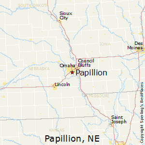 Papillion,Nebraska Map